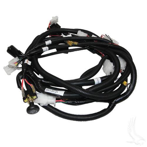 gas club car wiring diagram head light plug & play wire harness, club car ds #lgt-695 #5