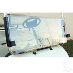 Windshield, Impact Resistant Clear 2 Piece, Yamaha G22   #WIN-4016